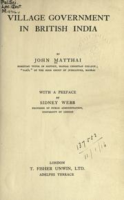 Village government in British India by John Matthai