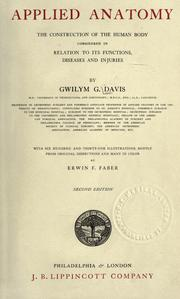Cover of: Applied anatomy by Gwilym G. Davis