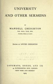 University & other sermons PDF