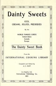 Cover of: Dainty sweets by Hoff, Archie Corydon