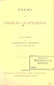 Poems by Thomas Chatterton