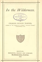 In the wilderness by Charles Dudley Warner
