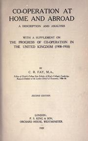 Co-operation at home and abroad by Fay, C. R.