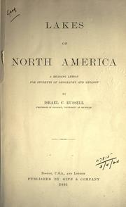 Lakes of North America by Israel C. Russell