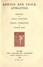 Rowing and Track athletics by Crowther, Samuel