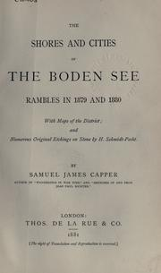 The shores and cities of the Boden See by Samuel James Capper
