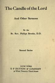 The candle of the Lord and other sermons PDF