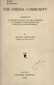 The Oneida community by Allan Estlake