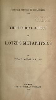 The ethical aspect of Lotze's metaphysics PDF