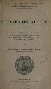 Studies on apples. I. Storage, respiration, and growth. II. Insoluble carbohydrates or marc. III. Microscopic and macroscopic examinations of apple starch PDF