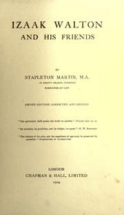 Izaak Walton and his friends by Stapleton Martin
