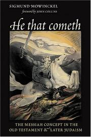 He that cometh by Sigmund Mowinckel
