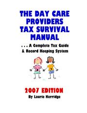 The Day Care Providers Tax Survival Manual PDF