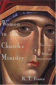 Women in the Church's Ministry by R. T. France