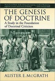 The Genesis of Doctrine by Alister E. McGrath