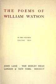 Poems by Watson, William Sir