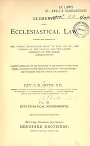 Elements of ecclesiastical law by S. B. Smith