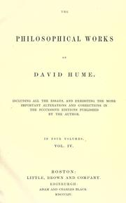The philosophical works by David Hume