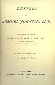 The letters of Samuel Johnson by Samuel Johnson