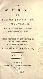 The works of Soame Jenyns, Esq by Jenyns, Soame