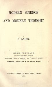 Modern science and modern thought by S. Laing