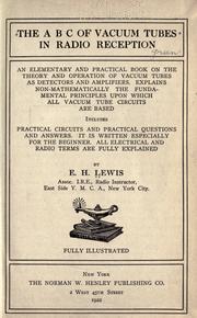 The A B C of vacuum tubes in radio reception PDF