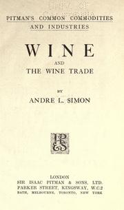 Wine and the wine trade PDF