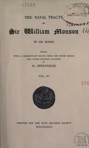 The naval tracts of Sir William Monson by Monson, William Sir