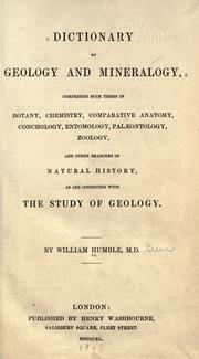 Dictionary of geology & mineralogy by William Humble