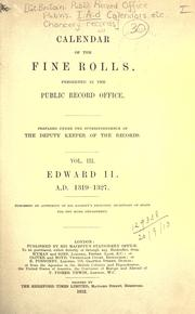 Cover of: Calendar of the Fine rolls preserved in the Public Record Office by Public Record Office