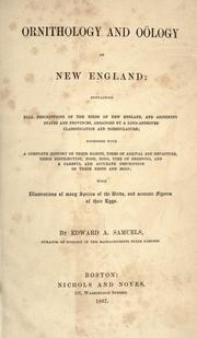 Ornithology and ology of New England by Edward A. Samuels