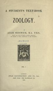 A student's text-book of zoology by Sedgwick, Adam