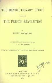 The revolutionary spirit preceding the French revolution PDF