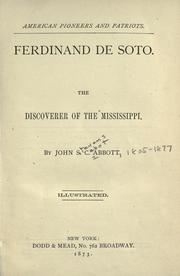 Ferdinand de Soto by John S. C. Abbott