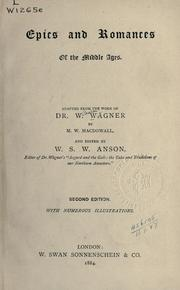 Epics and romances of the middle ages by Wilhelm Wägner