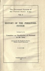 The personnel system of the United States army PDF