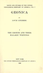 Geonica by Louis Ginzberg