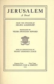 Cover of: Jerusalem by Selma Lagerlöf