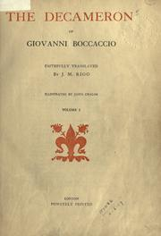 Cover of: The Decameron by Giovanni Boccaccio