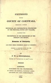 Excursions in the county of Cornwall by Frederick Wilton Litchfield Stockdale