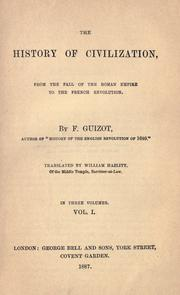 The history of civilization by Guizot M.