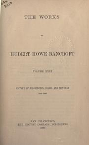 Works by Hubert Howe Bancroft