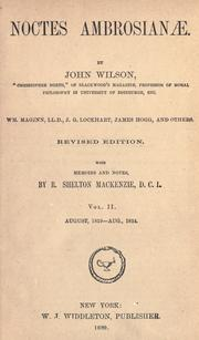 Noctes ambrosian by Wilson, John