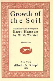 Cover of: Growth of the soil by Knut Hamsun
