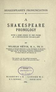 Shakespeare's pronunciation by Wilhelm Viëtor