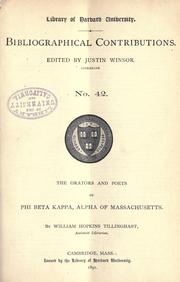 The orators and poets of Phi Beta Kappa, Alpha of Massachusetts PDF
