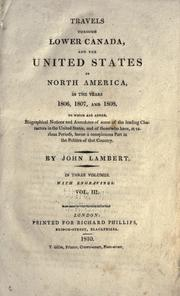 Travels through lower Canada and the United States of North America, in the years 1806, 1807, and 1808 PDF