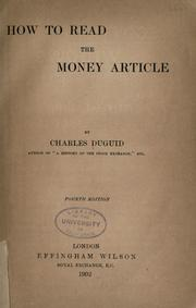 How to read the money article PDF