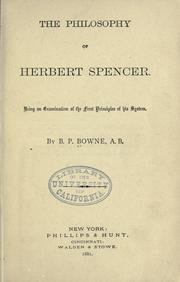 The philosophy of Herbert Spencer by Bowne, Borden Parker