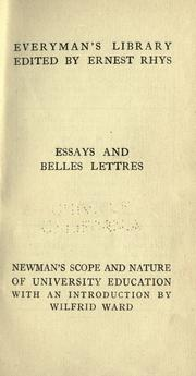 On the scope and nature of university education by John Henry Newman